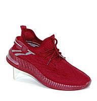 Текстильные кроссовки в бордовом цвете, фото 1
