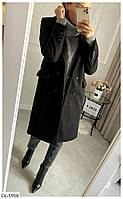 Женское кашемировое двубортное пальто на пуговицах