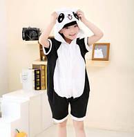 Пижама-кигуруми летняя Панда для мальчика 130-140р