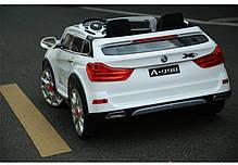 Детский двухместный электромобиль BMW М 2768 белый, ЭУР, колеса EVA, открываются двери, пульт bluetooth, фото 3