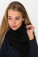 Вязаный шарф черный, фото 1