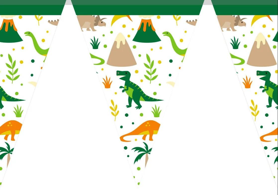 """Паперова гірлянда принт """"Динозаври Dino"""""""