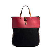 Качественная женская сумка из экокожи розовая