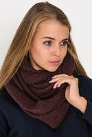 Вязаный шарф коричневый, фото 1