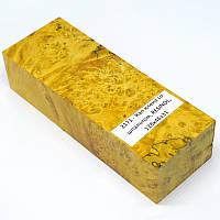 Стабилизированная древесина брусок Кап клена со шпальтом RESINOL 128х46х31, фото 1