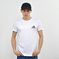 Мужская футболка с накаткой на груди и спине Adidas (реплика) белый, фото 1