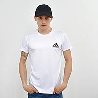 Чоловіча футболка з накаткою на грудях і спині Adidas (репліка) білий