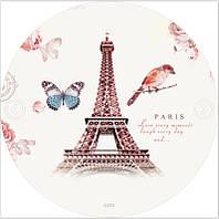 Пляжний килимок/ покривало Париж з бахромою щільний мікрофібра (150 см) FL 268