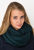Вязаный шарф изумрудный