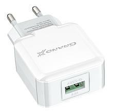 Сетевое зарядное устройство Grand-X (1xUSB 2.1A) White (CH03LTW) + кабель Lightning