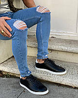 Мужские джинсы синие рванные/ Турция