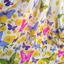 Готова тюль з тасьмою метелики, фото 3