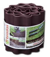 Бордюр волнистый Bradas коричневый, 25см х 9м.
