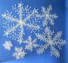 Снежинки пушистые 3 шт, 22 см