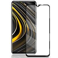 Защитное стекло для Xiaomi Poco M3 на весь экран 5д стекло на телефон сяоми поко м3 черное NFD