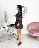 Вільний весняна сукня з яскравим принтом 50-656, фото 9