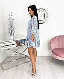 Вільний весняна сукня з яскравим принтом 50-656, фото 10
