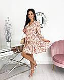 Вільний весняна сукня з яскравим принтом 50-656, фото 5
