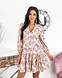 Вільний весняна сукня з яскравим принтом 50-656, фото 2