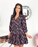 Вільний весняна сукня з яскравим принтом 50-656, фото 3