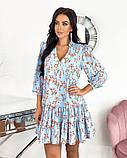 Вільний весняна сукня з яскравим принтом 50-656, фото 4