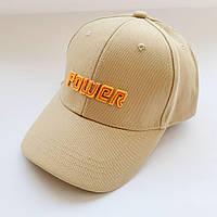 Котоновая кепка бейсболка размер 54/56 цвет бежевый, фото 1