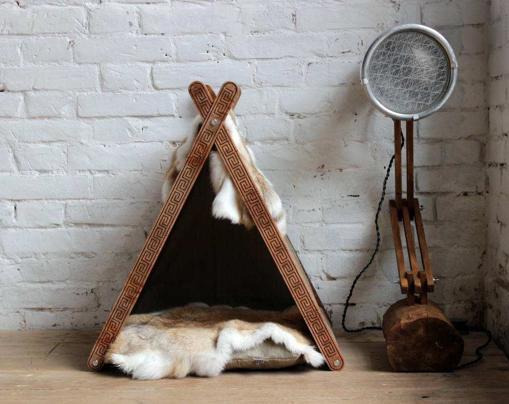 КІТ-ПЕС by smartwood Будиночок для кішки кота Будка для кота Спальне місце
