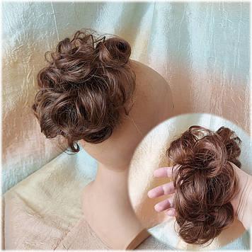 Резинка шиньон из волос каштаново-медный 0215V-31