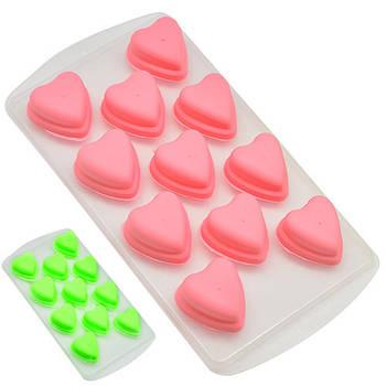 "Форма для льда шоколада мастики STENSON ""Сердечки"" 21.5 х 11 см (R28916)"