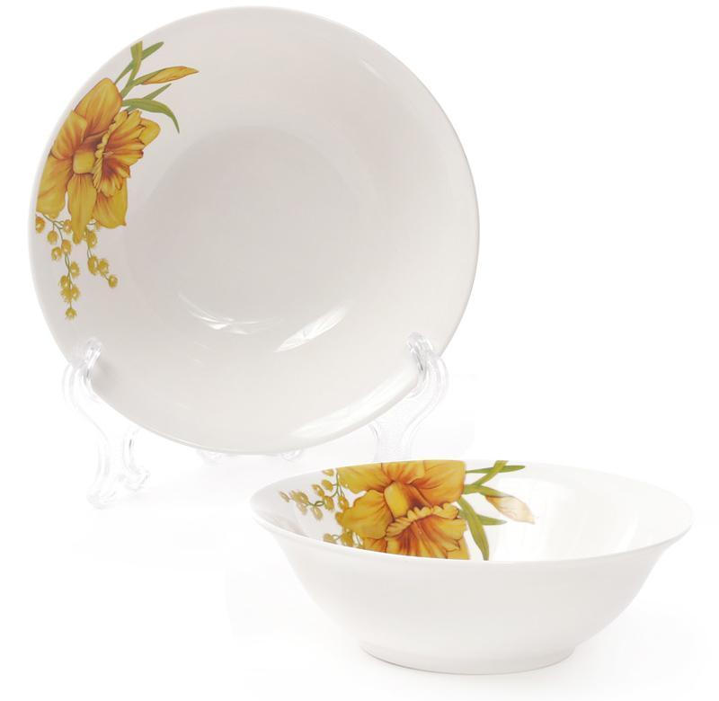 """Набор 6 фарфоровых салатниц """"Нарцисс"""" 350мл Ø14см"""