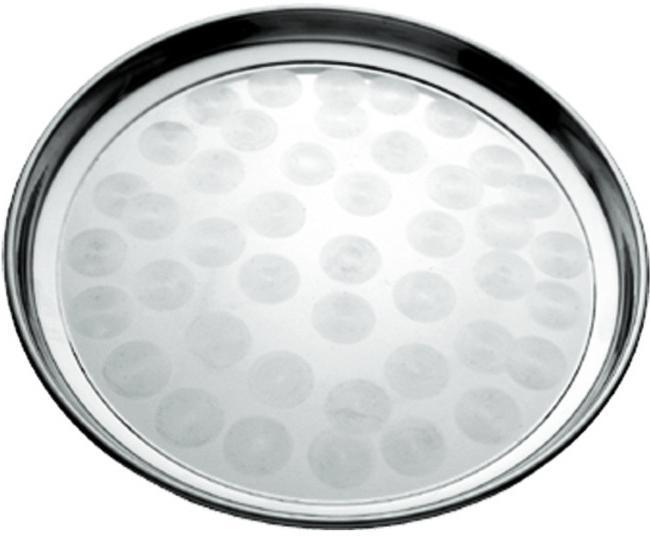 Піднос Empire круглий Ø40см, металевий круговим матовим декором