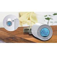 Терморегулятор на батарею отопления беспроводной - умный термостат для радиатора Poer PTV30, с управлением