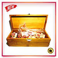Настольная игра лото в деревянной коробочке с деревянными бочонками