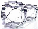 Набір 2 комбіновані форми Fissman Decorator для вирубки печива 6 в 1 - 12 трафаретів, фото 2