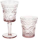 """Набор 6 стаканов """"Бант"""" 260мл, розовое стекло, фото 2"""