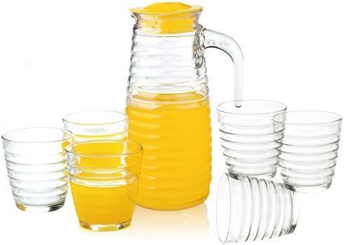 Набір для напоїв Oakley 6 склянок 230мл і графин 820мл з кришкою
