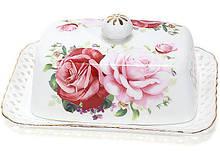 """Маслянка """"Букет троянд""""-140 17x12x6.5см, фарфорова"""