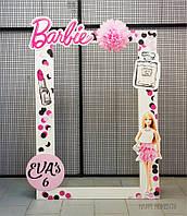 Фотозона в стиле Барби. Рамка для фотосессии на день рождения