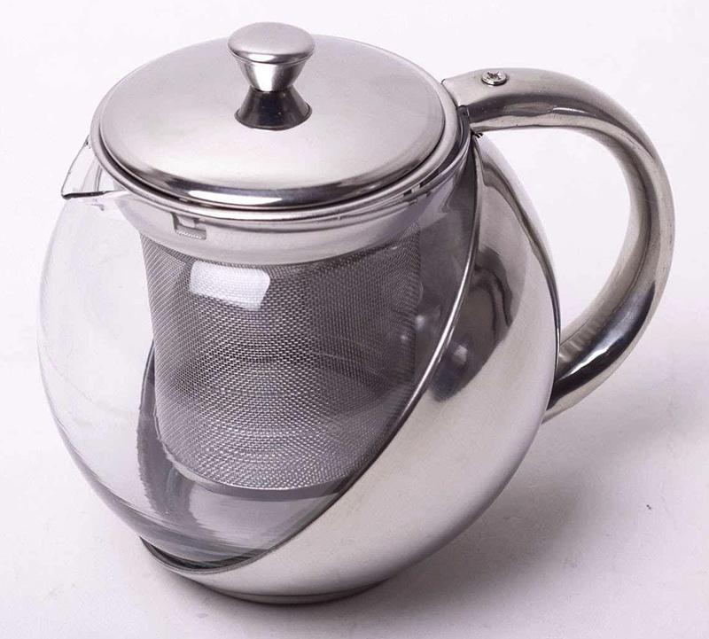 Чайник заварювальний Kamille Mercyle 500мл скляний зі знімним ситечком