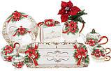 Чайник заварочный «Merry Christmas» 800мл, керамика с объемным рисунком, фото 4