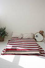 Плед Koloco кольорова Смуга з бамбука (бордо-графіт)
