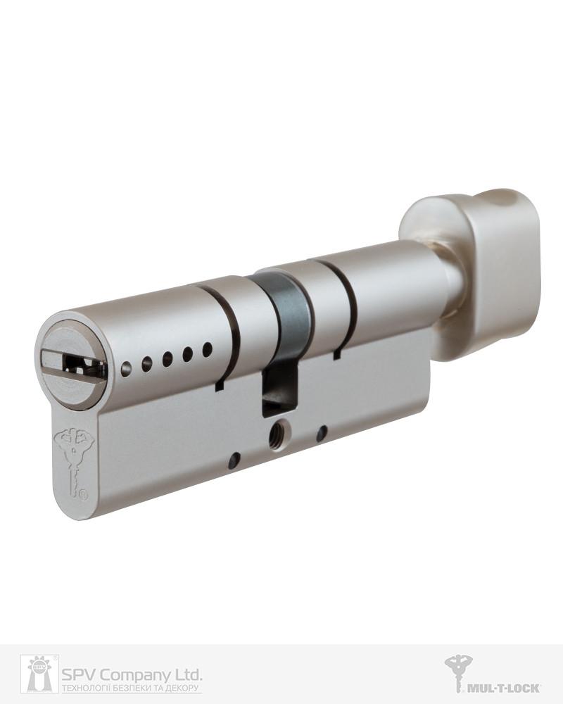 Цилиндр MUL-T-LOCK CLASSIC PRO 110 мм (55х55Т) ключ-тумблер Никель сатин