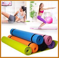 Коврик для фитнеса, йогамат Коврик для йоги, Туристический коврик M 0380-2 EVA 173-61см (6 цветов)