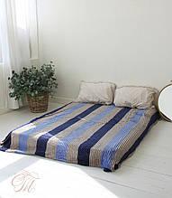 Плед Koloco кольорова Смуга з бамбука (сіро-синя)