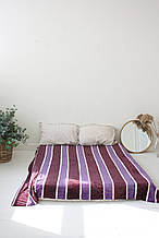 Плед Koloco кольорова Смуга з бамбука (бордо-фіолет)