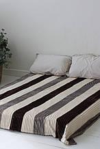 Плед Koloco кольорова Смуга з бамбука (сірий шоколад)