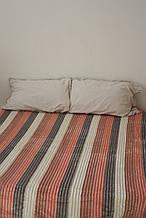 Плед Koloco кольорова Смуга з бамбука (сіро-рожева)