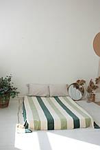 Плед Koloco кольорова Смуга з бамбука (салатовий-зелень)