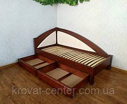 """Дитяче підліткове ліжко тахта з м'якою спинкою з дерева """"Веселка Преміум"""" від виробника, фото 3"""