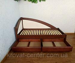 """Дитяче підліткове ліжко тахта з м'якою спинкою з дерева """"Веселка Преміум"""" від виробника, фото 2"""
